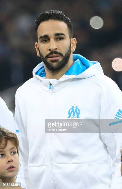 Adil Rami of OM during the French Ligue 1 match between Olympique de Marseille and AS Monaco at Stade Velodrome on January 28 2018 in Marseille France