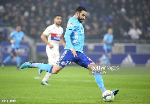 Adil Rami of OM during the French Ligue 1 match between Olympique Lyonnais and Olympique de Marseille at Groupama Stadium on December 17 2017 in Lyon...
