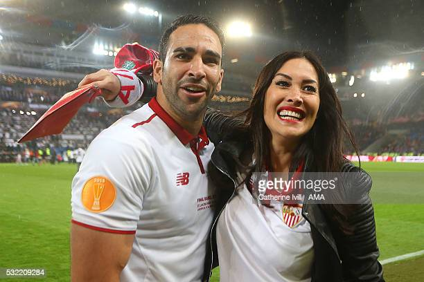 Adil Rami of Sevilla celebrates at the end of the UEFA Europa League Final between Liverpool and Sevilla at St JakobPark on May 18 2016 in Basel...