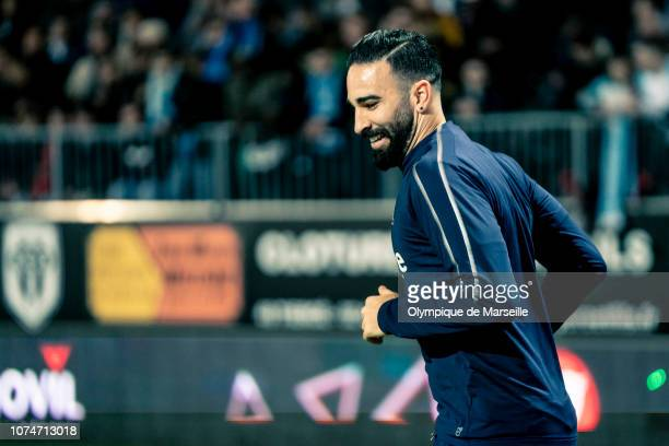 Adil Rami warming up during the Ligue 1 match between Angers SCO and Olympique de Marseille at Stade Raymond Kopa on December 22 2018 in Angers France