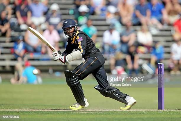 Adil Rashid in action for Yorkshire during the Royal London OneDay Cup between Yorkshire Vikings and Nottingham Outlaws at North Marine Road on July...