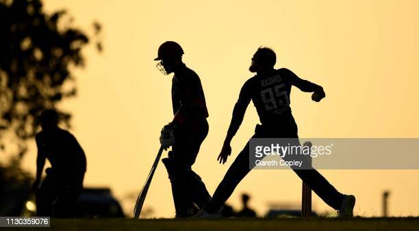 Adil Rashid of England bowls during the One Day Tour Match between England and The University of West Indies Vice Chancellor's XI at Three Ws Oval on...