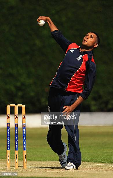 Adil Rashid of England in action during a nets session at the National Cricket Performance Centre at Loughborough University on May 31 2009 in...