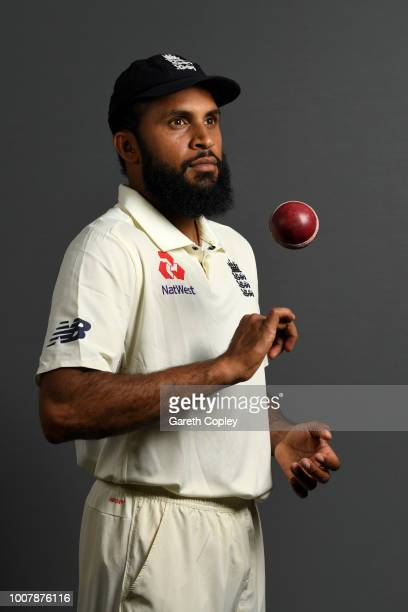 Adil Rashid of England poses for a portrait at Edgbaston Cricket Ground on July 30 2018 in Birmingham England