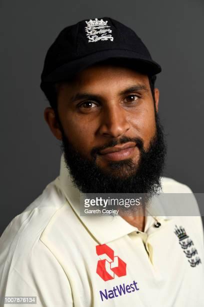 Adil Rashid of England poses for a portrait at Edgbaston Cricket Ground on July 30 2018 in Birmingham England
