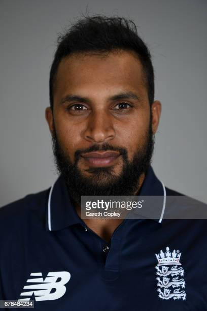 Adil Rashid of England poses for a portrait at The Brightside Ground on May 4 2017 in Bristol England