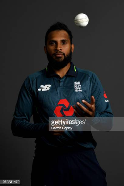 Adil Rashid of England poses for a portrait at The Kia Oval on June 12 2018 in London England