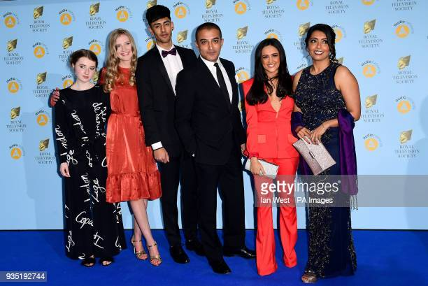 Adil Ray AmyLeigh Hickman Fern Deacon Sunetra Sarker Poppy Lee Friar and Nohail Nazir Mohammed attending the Royal Television Society Programme...