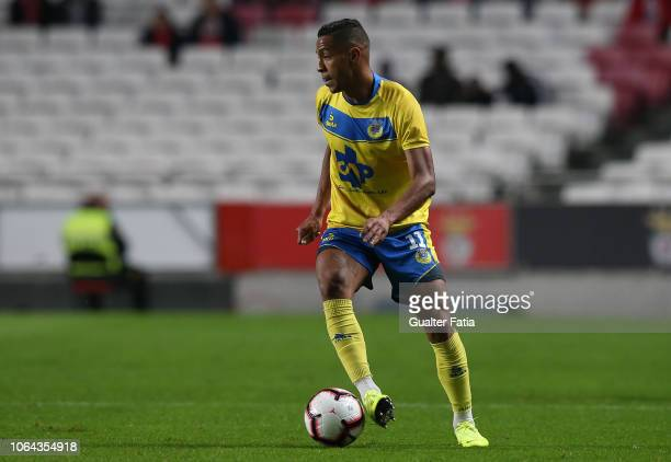 Adilio Santos of FC Arouca in action during the Taca de Portugal match between SL Benfica and Arouca FC at Estadio da Luz on November 22 2018 in...