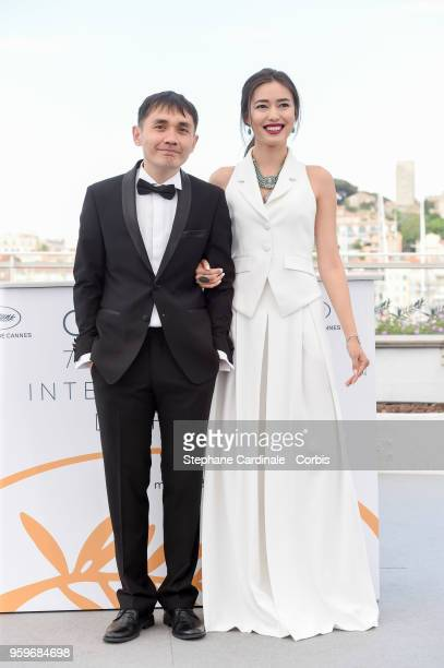 Adilkhan Yerzhanov and Dinara Baktybayeva attend 'The Gentle Indifference Of The Word' Photocall during the 71st annual Cannes Film Festival at...
