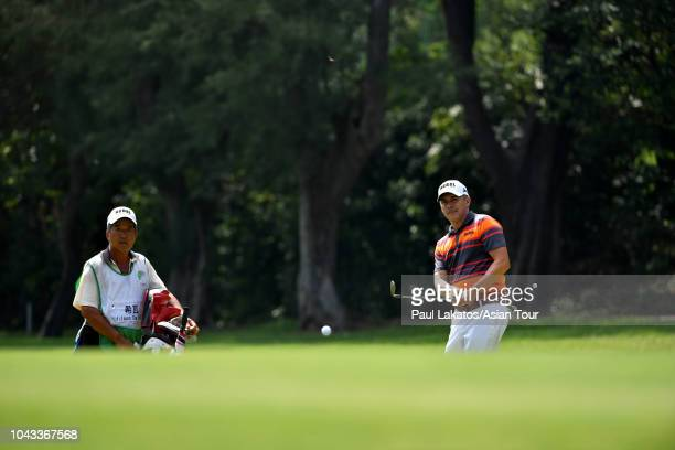 Adilson Da Silva of Brazil during the final round of the Mercuries Taiwan Masters at Taiwan Golf and Country Club on September 30, 2018 in New Taipei...