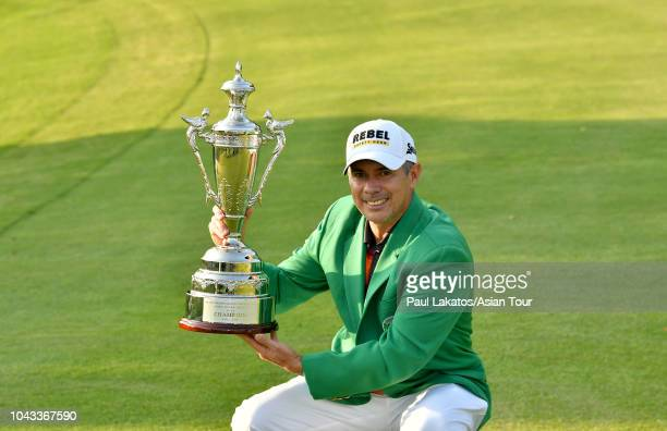 Adilson Da Silva of Brazil during the final round of the Mercuries Taiwan Masters at Taiwan Golf and Country Club on September 30 2018 in New Taipei...