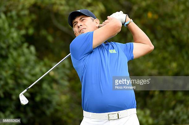 Adilson Da Silva of Brazil during the first round of men's golf on Day 6 of the Rio 2016 Olympics at the Olympic Golf Course on August 12, 2016 in...