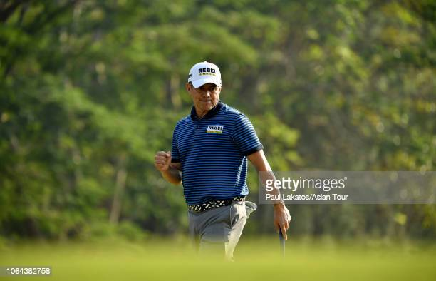 Adilson Da Silva of Brazil during the second round of the HONMA Hong Kong Open presented by Amundi at Hong Kong Golf Club on November 23 2018 in Hong...