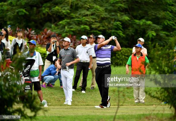 Adilson Da Silva of Brazil during the third round of the Mercuries Taiwan Masters at Taiwan Golf and Country Club on September 29, 2018 in New Taipei...