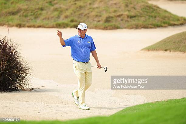 Adilson Da Silva of Brazil pictured during during round one of the World Classic Championship at Laguna National Golf Country Club on November 12...