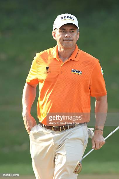 Adilson Da Silva of Brazil pictured during round three of the Venetian Macao Open at Macau Golf and Country Club on October 17, 2015 in Macau, Macau.