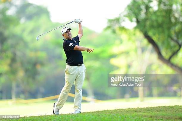Adilson Da Silva of Brazil pictured during round two of the Maybank Championship Malaysia at Royal Selangor Golf Club on February 19 2016 in Kuala...