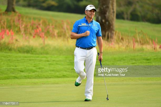 Adilson Da Silva of Brazil pictured during the second round of the Bank BRI Indonesia Open at Pondok Indah Golf Course on August 30 2019 in Jakarta...