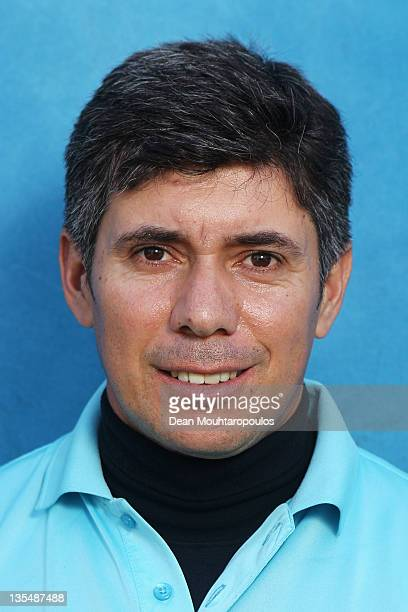 Adilson Da Silva of Brazil poses after Round 1 during the European Tour Qualifying School Final at the PGA Catalunya Resort Golf Course on December...