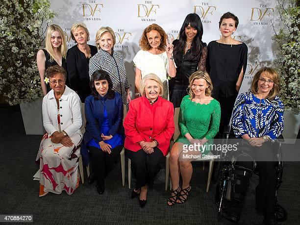 Adimaimalaga Tafuna'i, Samar Minallah Khan, Melanne Verveer and Becky Straw Dakota Fanning, Tina Brown, Hilary Rodham Clinton, Diane von Furstenberg,...