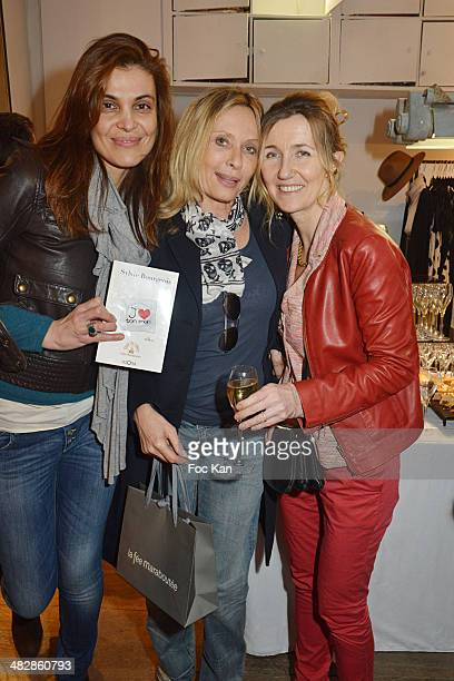 Adina Cartianu Valerie Steffen and Sylvie Bourgeois Hare attend the 'J'aime Ton Mari' Sylvie Bourgeois Harel Book Reading Cocktail at La Fee...