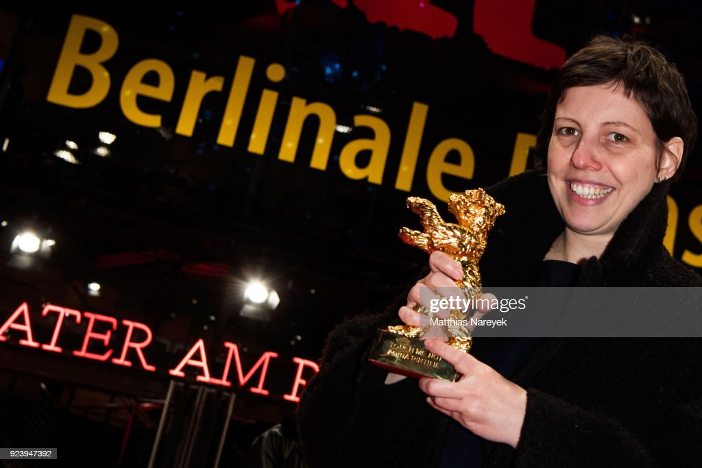Adina Pintilie, winner of the Golden Bear for Best Film for 'Touch Me Not' poses after the closing ceremony during the 68th Berlinale International Film Festival Berlin at Berlinale Palast on February 24, 2018 in Berlin, Germany.