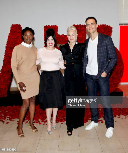 Adina Porter Alexis Martin Woodall Lou Eyrich and Cheyenne Jackson attend The Paley Center for Media Celebration of 'American Horror Story The Style...