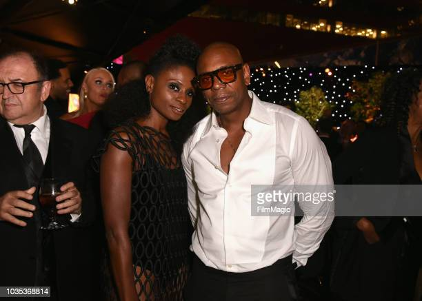 Adina Porter and Dave Chappelle attend HBO's Official 2018 Emmy After Party on September 17 2018 in Los Angeles California