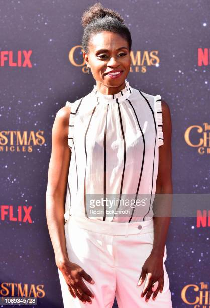 Adina Porter arrives at the Premiere of Netflix's 'The Christmas Chronicles' at Fox Bruin Theater on November 18 2018 in Los Angeles California