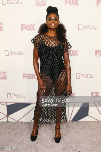 Adina Porter arrives for the FOX Broadcasting Company FX National Geographic and 20th Century Fox Television 2018 Emmy Nominee Party at Vibiana on...