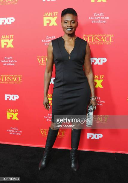 Adina Porter attends the Los Angeles Premiere 'The Assassination Of Gianni Versace American Crime Story' at ArcLight Hollywood on January 8 2018 in...