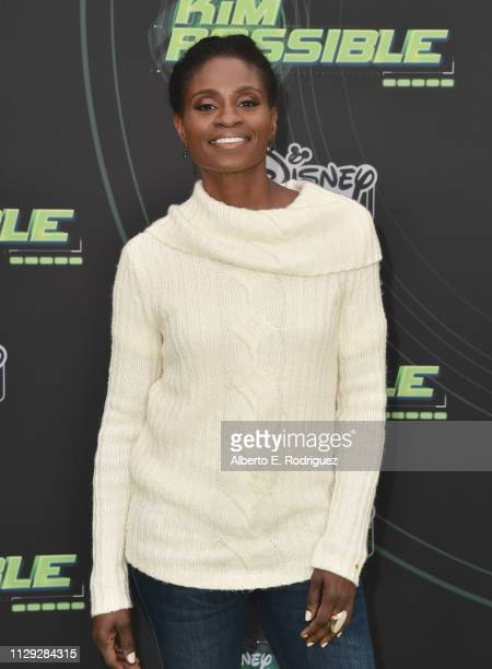 Adina Porter attends the premiere of Disney Channel's 'Kim Possible' at The Television Academy on February 12 2019 in Los Angeles California