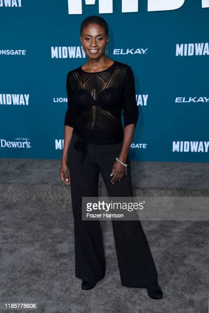 Adina Porter attends the premiere of Lionsgate's Midway at Regency Village Theatre on November 05 2019 in Westwood California