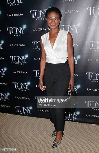 Adina Porter attends the Tony Awards celebration of Broadway in Hollywood at Sunset Tower on March 25 2015 in West Hollywood California