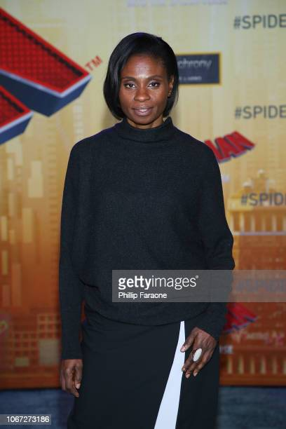 Adina Porter attends the world premiere of Sony Pictures Animation and Marvel's 'SpiderMan Into The SpiderVerse' at Regency Village Theatre on...