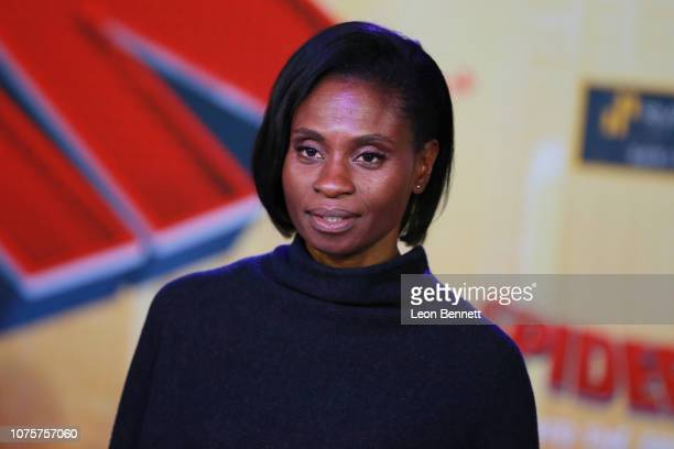 Adina Porter attends World Premiere Of Sony Pictures Animation And Marvel's 'SpiderMan Into The SpiderVerse' at Regency Village Theatre on December...
