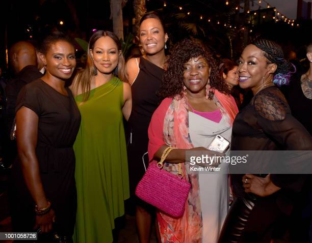 Adina Porter Garcelle Beauvais Aisha Tyler Loretta Devine and Tichina Arnold pose at the after party for the premiere of Columbia Picture's...