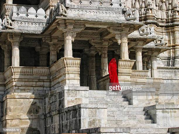 adinatha temel in ranakpur - jain temple stock photos and pictures