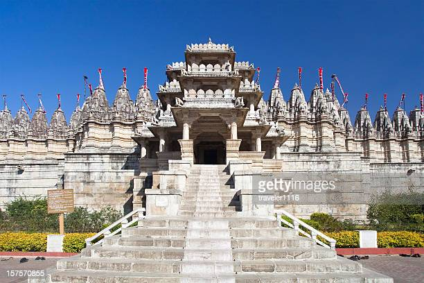 adinatha temple in ranakpur, india - jain temple stock photos and pictures