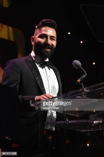 Adiran Molina speaks onstage at the 33rd Annual ASCAP Screen Music Award at The Beverly Hilton Hotel on May 23 2018 in Beverly Hills California