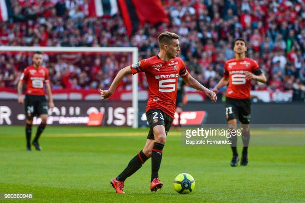 Adirne Hunou of Rennes during the Ligue 1 match between Stade Rennes and Montpellier Herault SC at Roazhon Park on May 19 2018 in Rennes