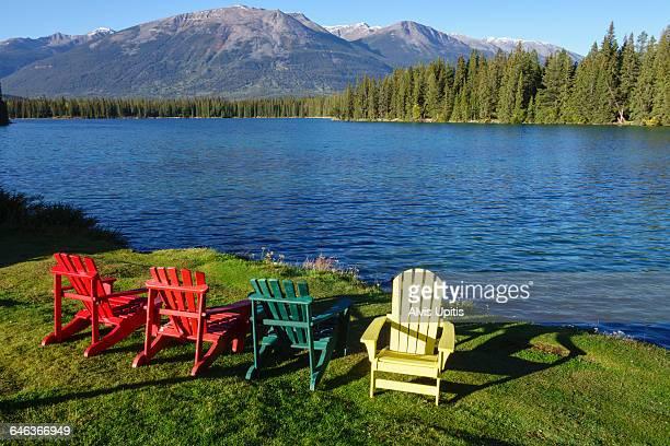 Adirondack Chairs Lake Beauvert Alberta