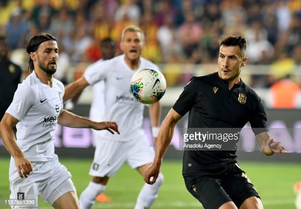 Adis Jahovic of Yeni Malatyaspor vies for the ball during the UEFA Europa League second qualifying match between Yeni Malatyaspor and Olimpija...