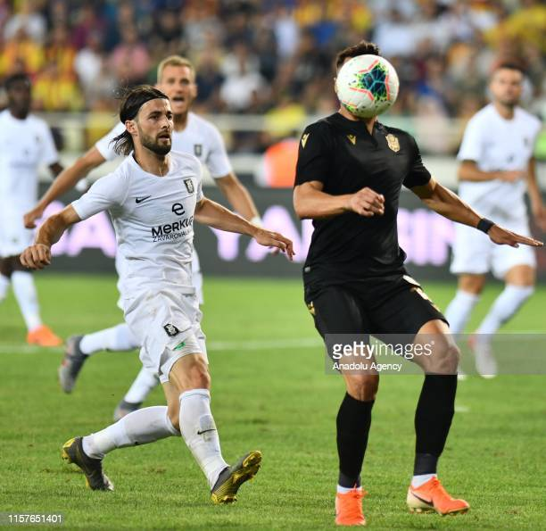 Adis Jahovic of Yeni Malatyaspor vies for the ball during the UEFA Europa League second qualifying match between Yeni Malatyaspor and Olimpija...