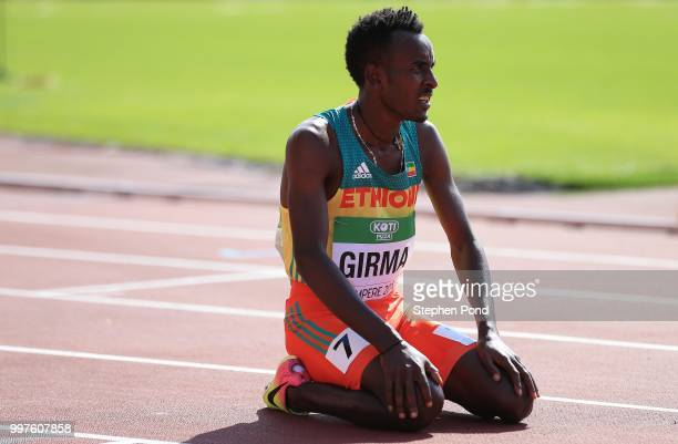Adisu Girma of Ethiopia looks on during heat 3 of the men's 800m heats on day four of The IAAF World U20 Championships on July 13 2018 in Tampere...