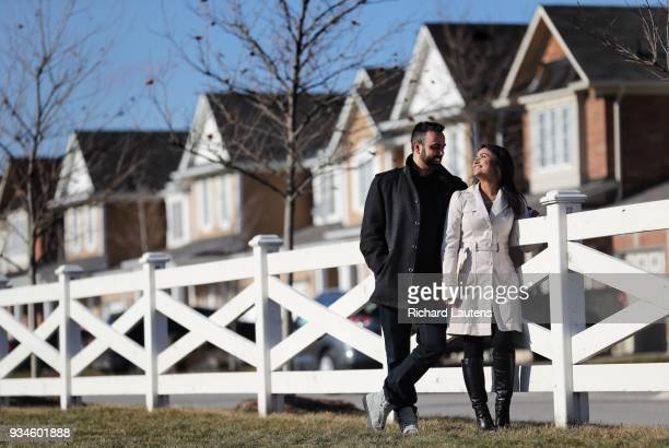 February 25: Aditi and his fiancee Ankur are seen in and around their housing development in Milton. Aditi Sharma and Ankur Chawla bought a townhouse...