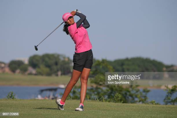 Aditi Ashok hits from the 6th tee during the Volunteers of America LPGA Texas Classic on May 5 2018 at the Old American Golf Club in The Colony TX