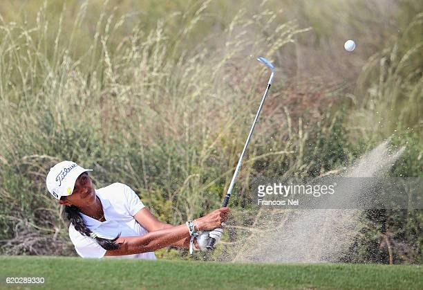 Aditi Ashok of India in action during the first round of the Fatima Bint Mubarak Ladies Open at Saadiyat Beach Golf Club on November 2 2016 in Abu...