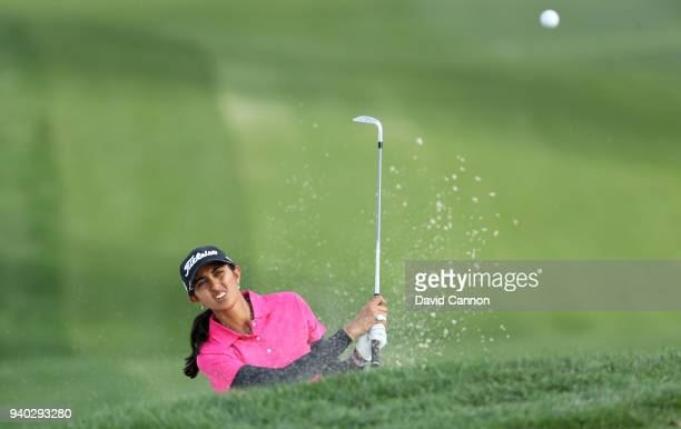 Aditi Ashok of India plays her third shot on the par 4 seventh hole during the second round of the 2018 ANA Inspiration on the Dinah Shore Tournament...
